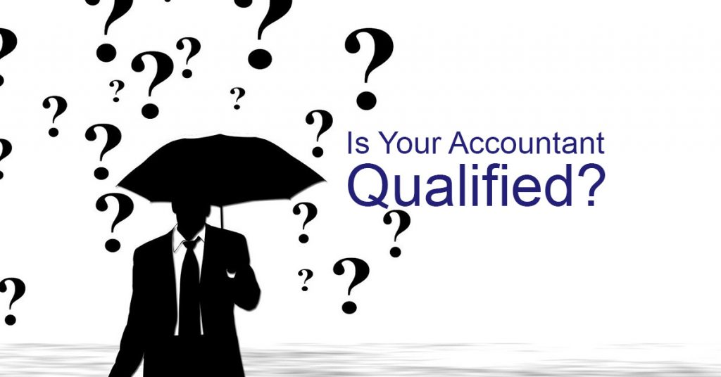 how do you know your accountant or bookkeeper are qualified?